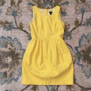 J. Crew yellow dress 0